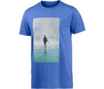 Grande Printshirt Herren blau / türkis / hellgrau
