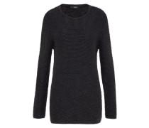 Pullover in Struktur-Strick 'Cifizz' schwarz