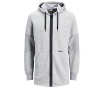 Sweatshirt Lässiges grau / schwarz