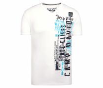 T-Shirt weiß / schwarz