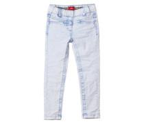 Treggings Skinny: Moonwashed-Jeans blau