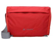 'Rom II' L Umhängetasche 41 cm Laptopfach rot