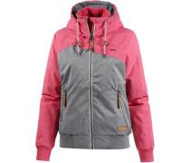 'Nuggie B' Kapuzenjacke grau / pink