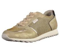 Sneaker ecru / gold