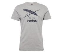 Print Shirt graumeliert