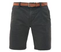 Plek Loose: Shorts mit Gürtel anthrazit / schwarz