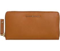 Portemonnaie »Effortless Leather Large ZA Wallet« cognac
