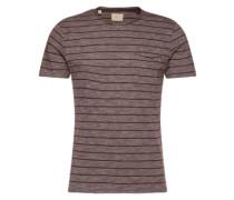 Rundhalsausschnitt-T-Shirt weinrot