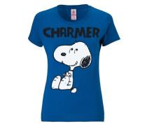 """T-Shirt """"Snoopy"""" blau"""
