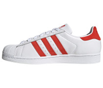 Sneaker 'Superstar' rot / weiß