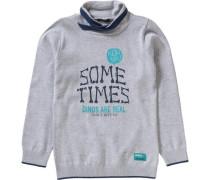 Pullover für Jungen türkis / dunkelblau / grau