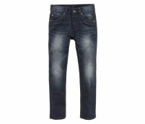 Stretchjeans Slim Regular-fit mit schmalem Bein marine