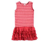 Kleid mit Volants-Rock Mädchen Kinder rot