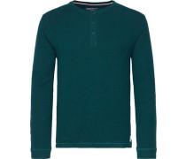 T-Shirt »Carson Henley L/S RF« dunkelgrün