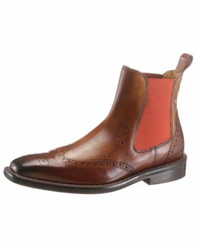 Chelsea Boots rostbraun / dunkelbraun / orange
