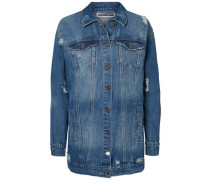 Lange Jeansjacke blau