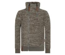 Male Zipped Jacket 'Schnitzelpopizel Iii' oliv