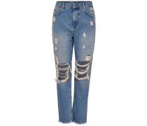 Dagny High Straight Fit Jeans blue denim