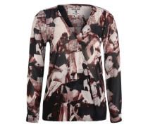 Blusenshirt mit Allover-Print pink