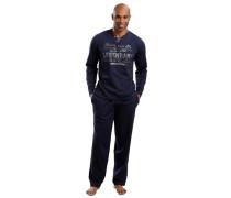 Jersey-Pyjama H.i.s ultramarinblau