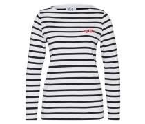 Sweatshirt mit Streifen-Design weiß / schwarz