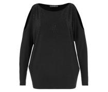 Cold-Shoulder-Shirt mit Strass-Steinen