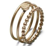 3er-Pack Ring gold