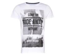 T-Shirt 'ride Away' weiß