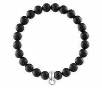 Charm-Armband 'Schwarz X0219-023-11-L' schwarz / silber