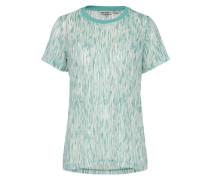 sommerliches Shirt jade / weiß