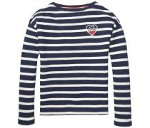 Sweatshirt 'ame Stripe BN HWK L/s' navy / weiß