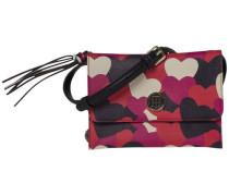 Handtasche 'love Tommy Crossover Heart' beige / rot / schwarz