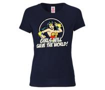 "T-Shirt ""Wonder Woman"" blau"