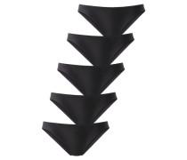 Pikee-Slips schwarz