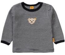 Baby Langarmshirt schwarz / weiß