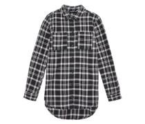 Langarmhemd 'niteloa' schwarz / weiß