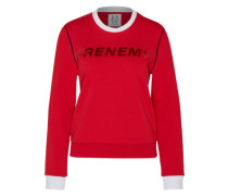 Sweatshirt 'frenemy' rot / weiß