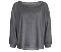 Sweatshirt Sweat Velvet dunkelgrau