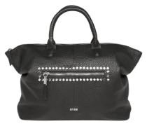 Leder-Handtasche schwarz