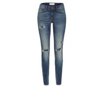 'Jona Japanese Blue Distressed' Slimfit Jeans blue denim