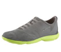 Sneaker grau / neongrün