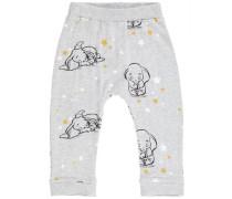 Hose Dumbo-Print- gelb / grau / schwarz / weiß