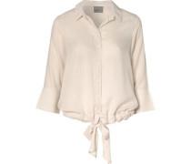 Bluse beige / weiß