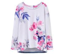 Sweatshirt 'clemence' pink / weiß