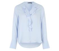 Bluse mit Falten-Details blau