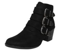 Ankle Boot 'Angela' mit Schnallen-Applikationen schwarz