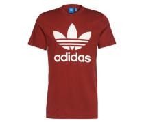 T-Shirt mit Rundhalsausschnitt weinrot
