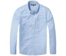 Hemd 'ame DG Thdm Basic Solid Shirt L/s' rauchblau