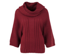 Dicker Poncho mit Mohair-Anteil rot