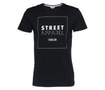 T-Shirt 'Gethin' schwarz